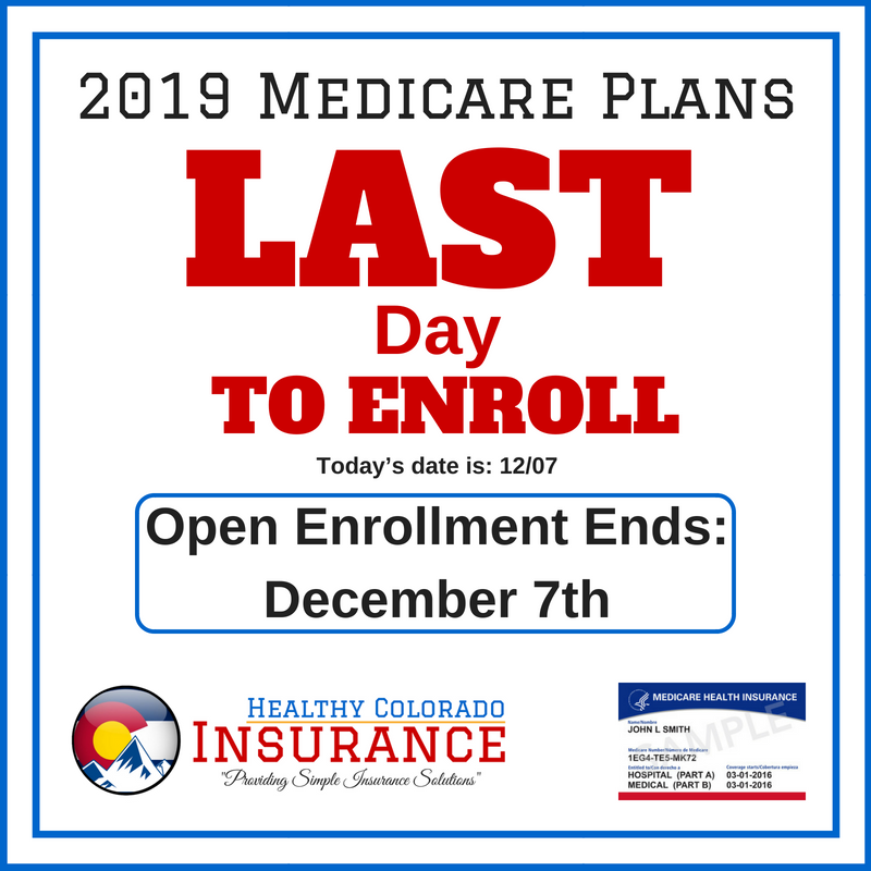 It Is The Medicare Annual Enrollment Period Today Is The Last