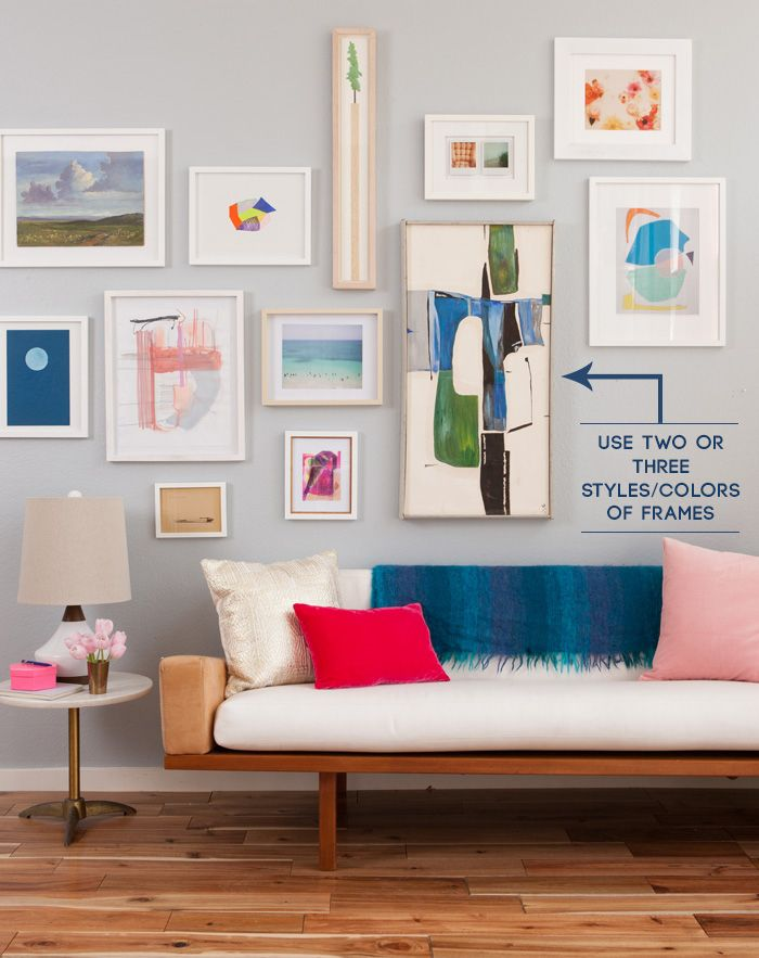 The guide to a well hung gallery wall | Cuadro, Interiores y Marcos ...