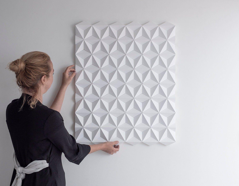 White Square 3d Wall Decor White Geometric Wall Art White Wall