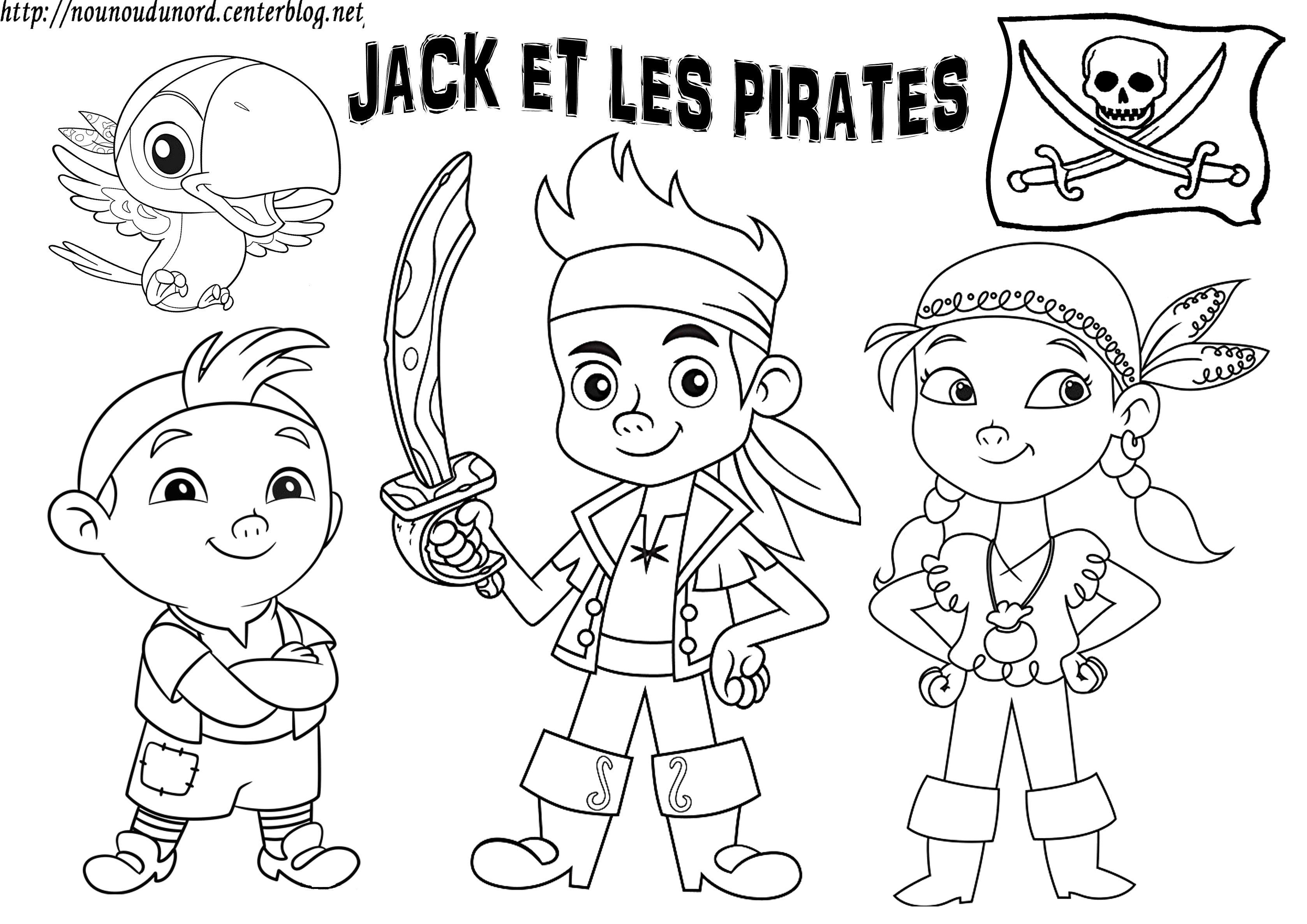 Jake et les pirates coloriage, gommettes  Pirate coloring pages