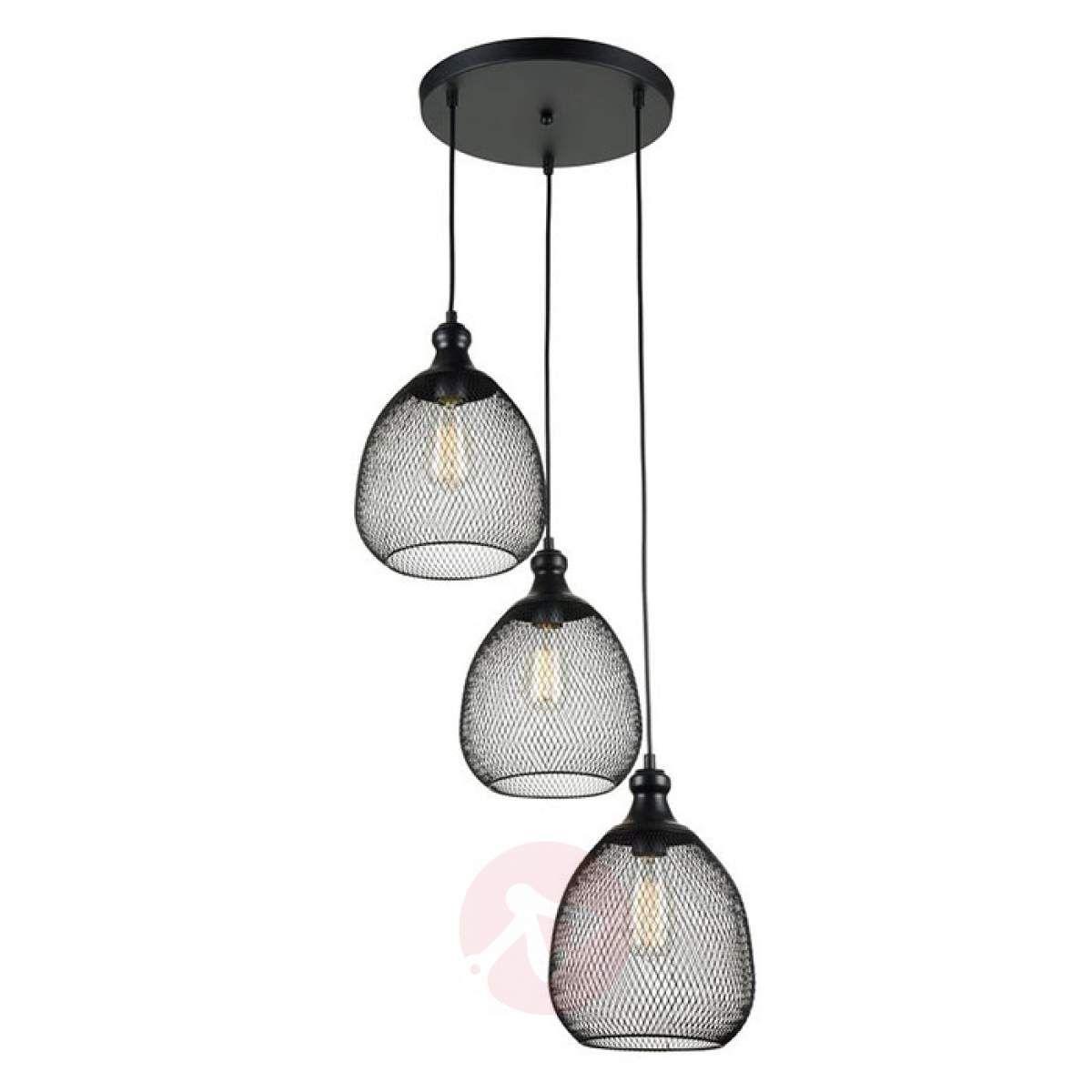 3 Punktowa Lampa Wisząca Grille O Wyglądzie Klatki Lampy