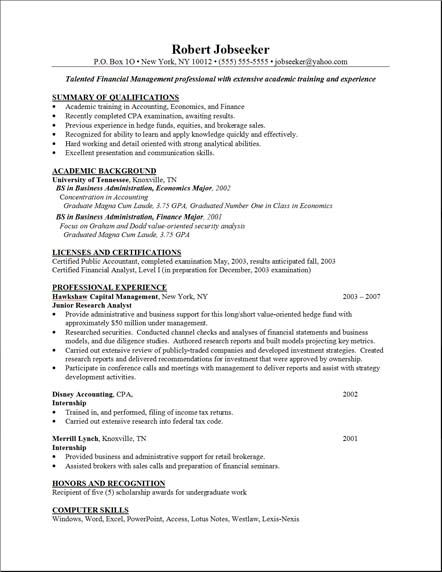Sample Resume Layout | Resume Format Download Pdf