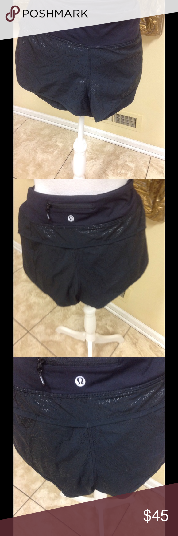 Lululemon Stretch Shorts Size 8 Adorable black shorts by Lululemon size 8. Zipper back, stretch fabric, classic style, beautiful condition, low price. Questions please contact me. lululemon athletica Shorts