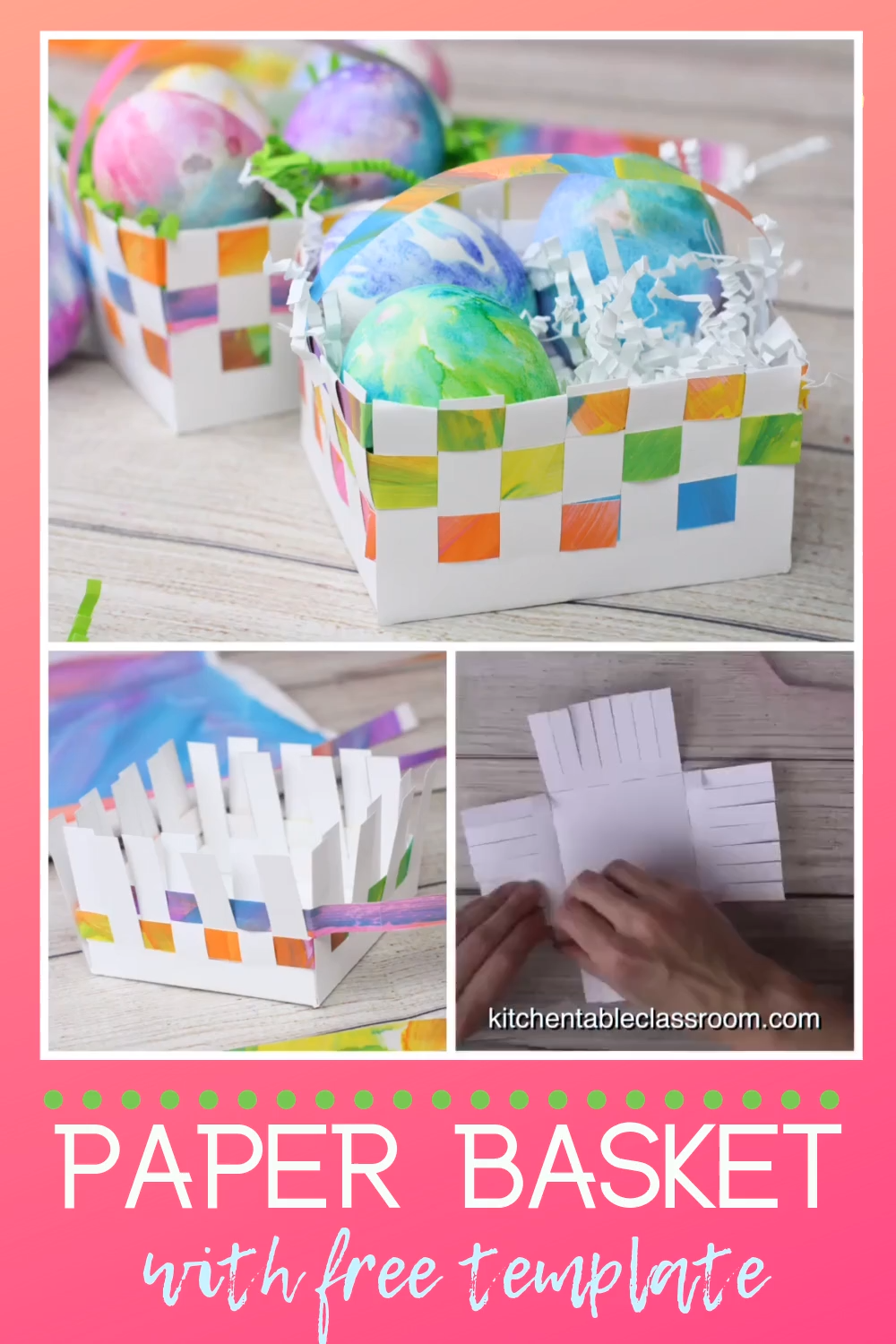 Photo of Woven Paper Basket with Free Template