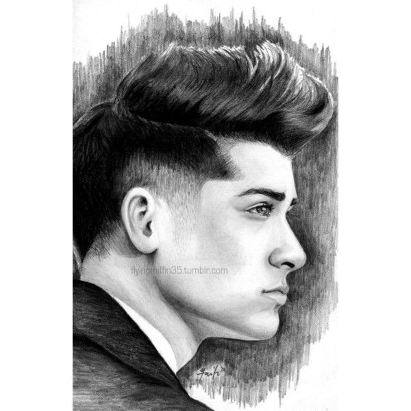 One direction ❤ liked on polyvore featuring drawings one direction zayn malik image