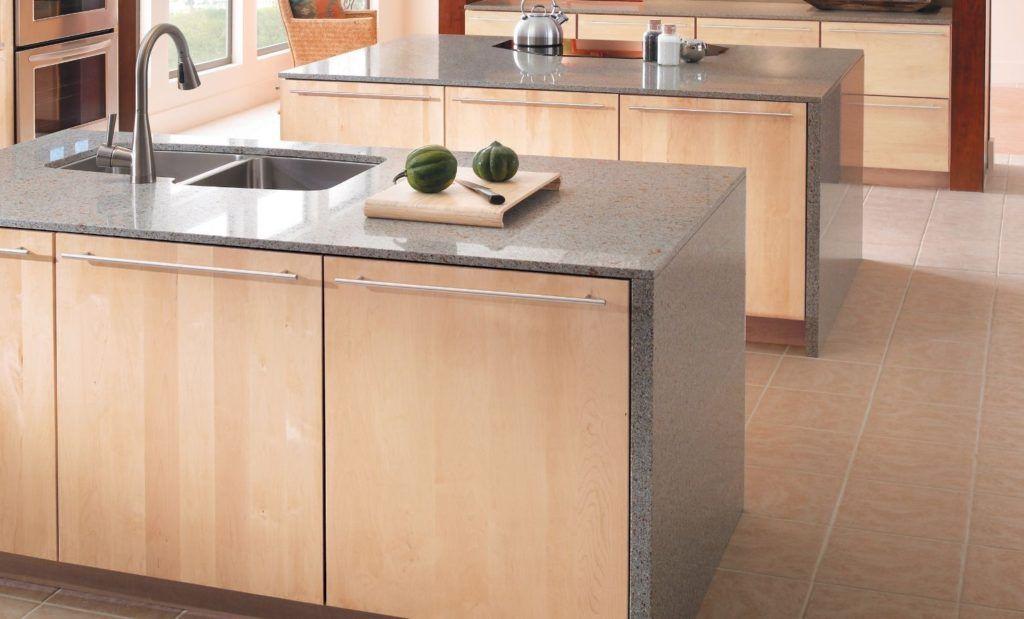Maple Slab Kitchen Cabinets Maple Slab Kitchen