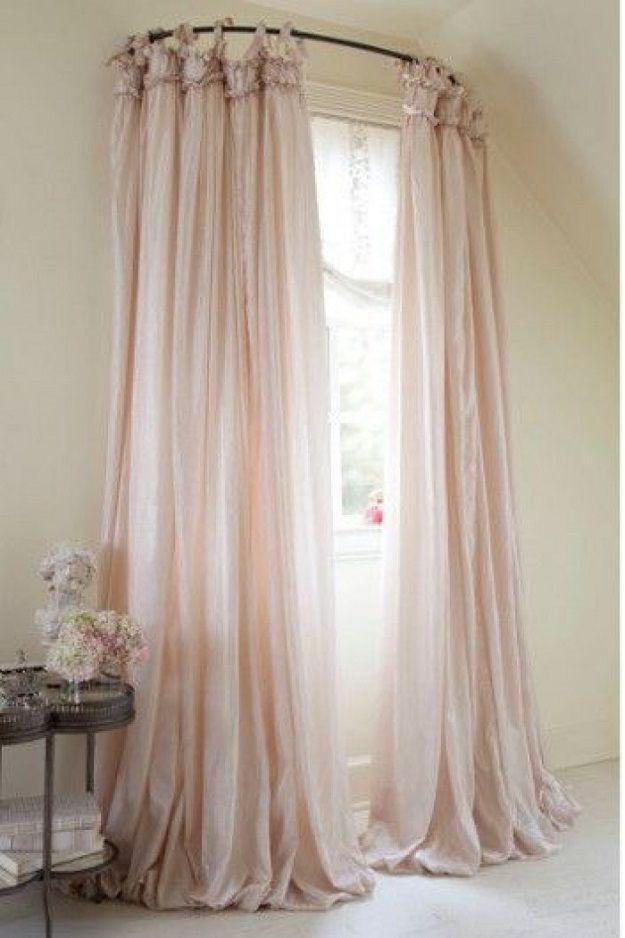 30 sencillos trucos que te ayudar n a decorar tu casa sin gastar cortinas cortinas hogar y - Cortina bano curva ...