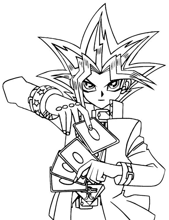 Desenhos para colorir e pintar para crianças Yu-Gi-Oh 23 | dibujos ...