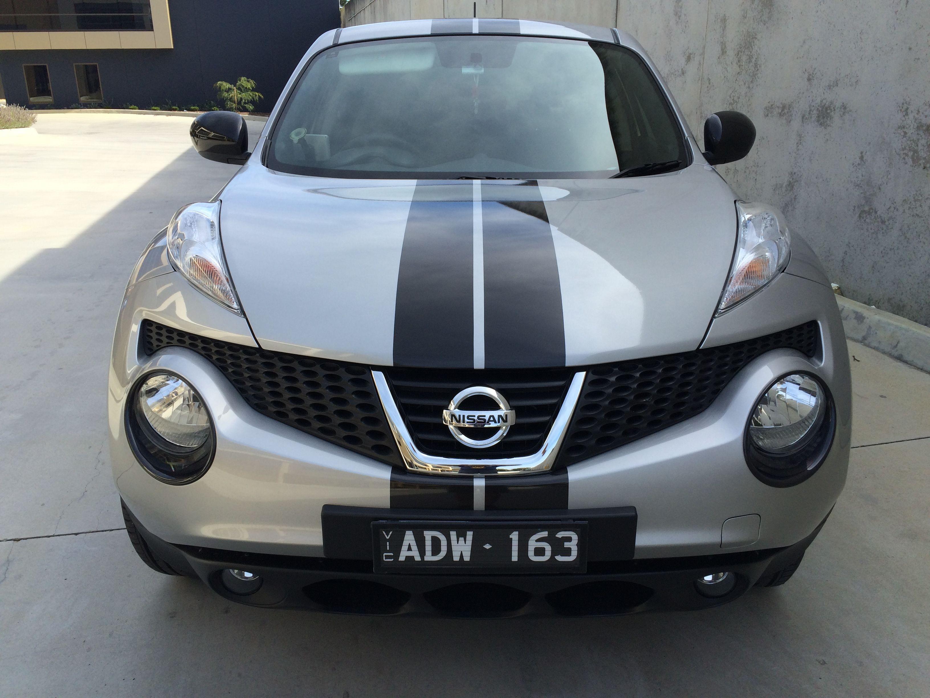 Nissan Juke Custom Made Black Stripes Supplied Installed By Sign Dazign Melbourne Australia Nissan Juke Nissan Unique Cars