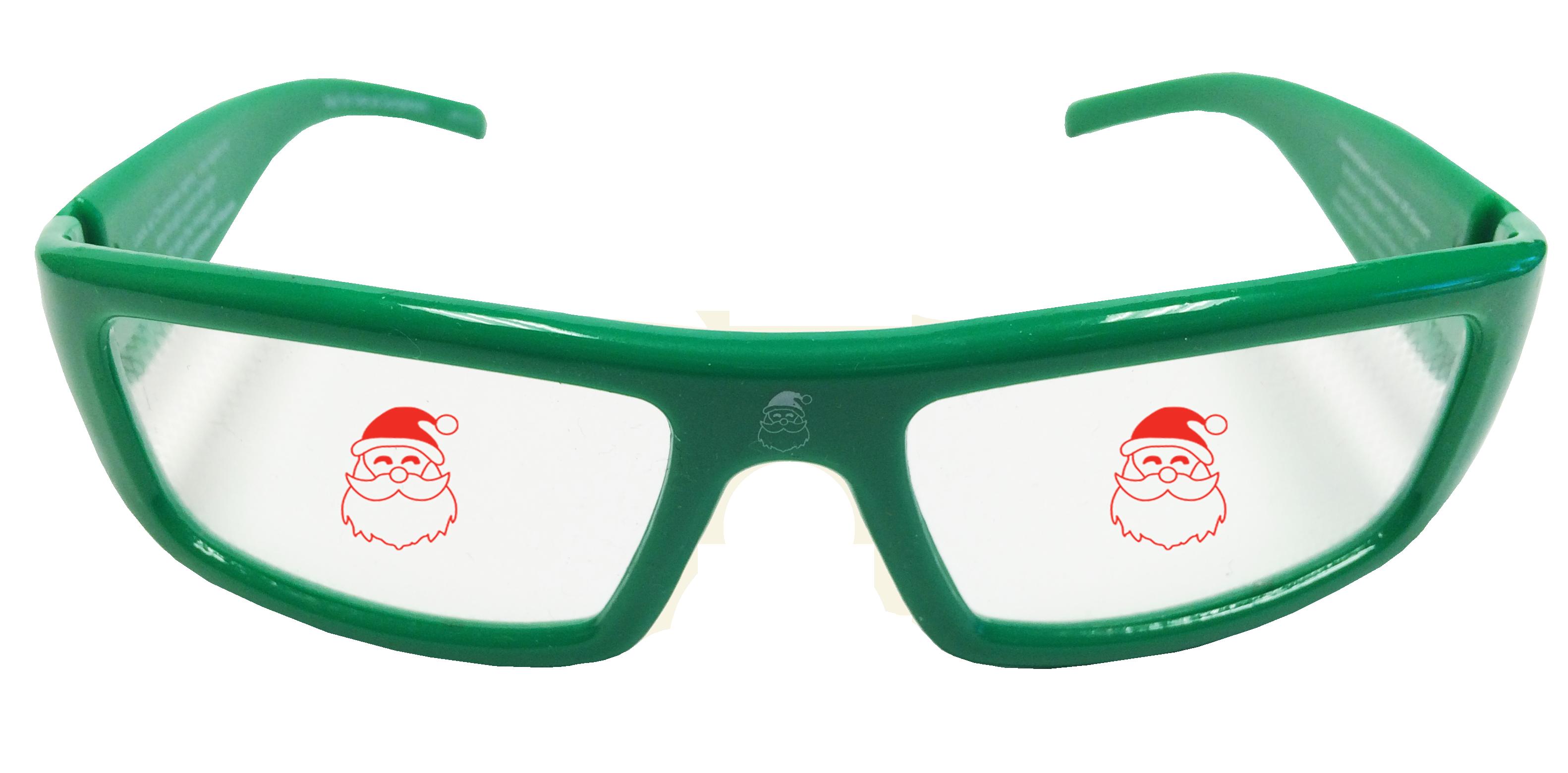 the new plastic holiday specs 3d christmas glasses santa