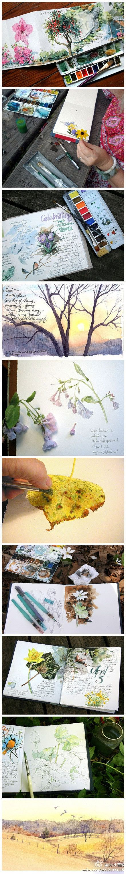 art journal, I think I'll do this with my daughter :)