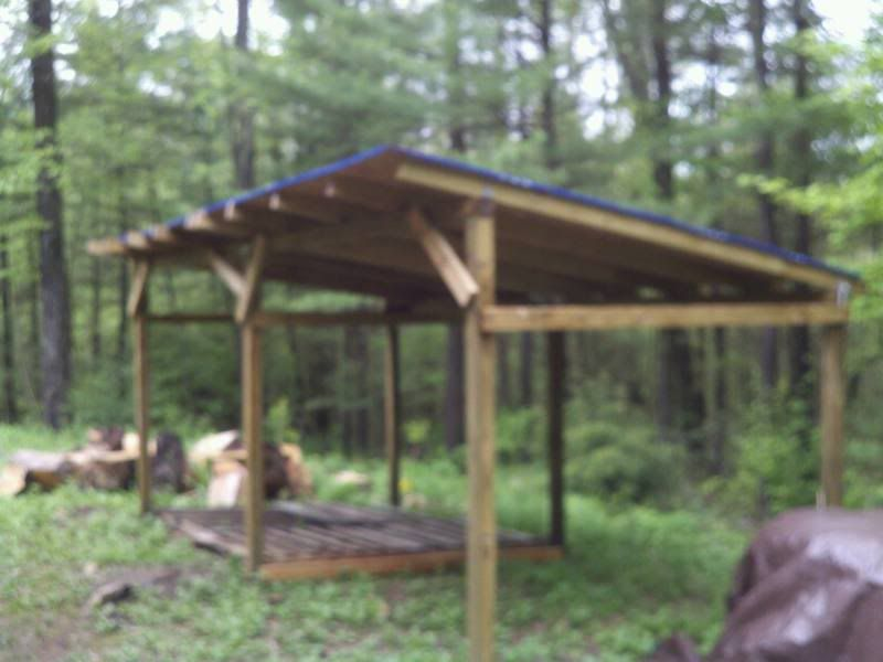 Easy Cost Effectiver Roof Option For Woodshed And Pics