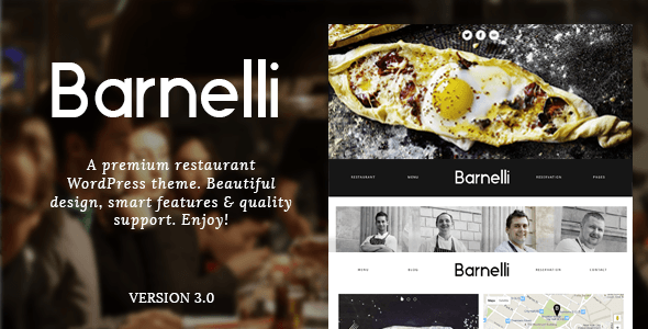 Barnelli - ресторан / WooCommerce WordPress шаблон    Barnelli supports Wordpress 4.7.x Visiting a restaurant is an experience, so visiting your website should be as well. Barnelli is a minimal and highly responsive Wordpress theme, designed for all y...    -