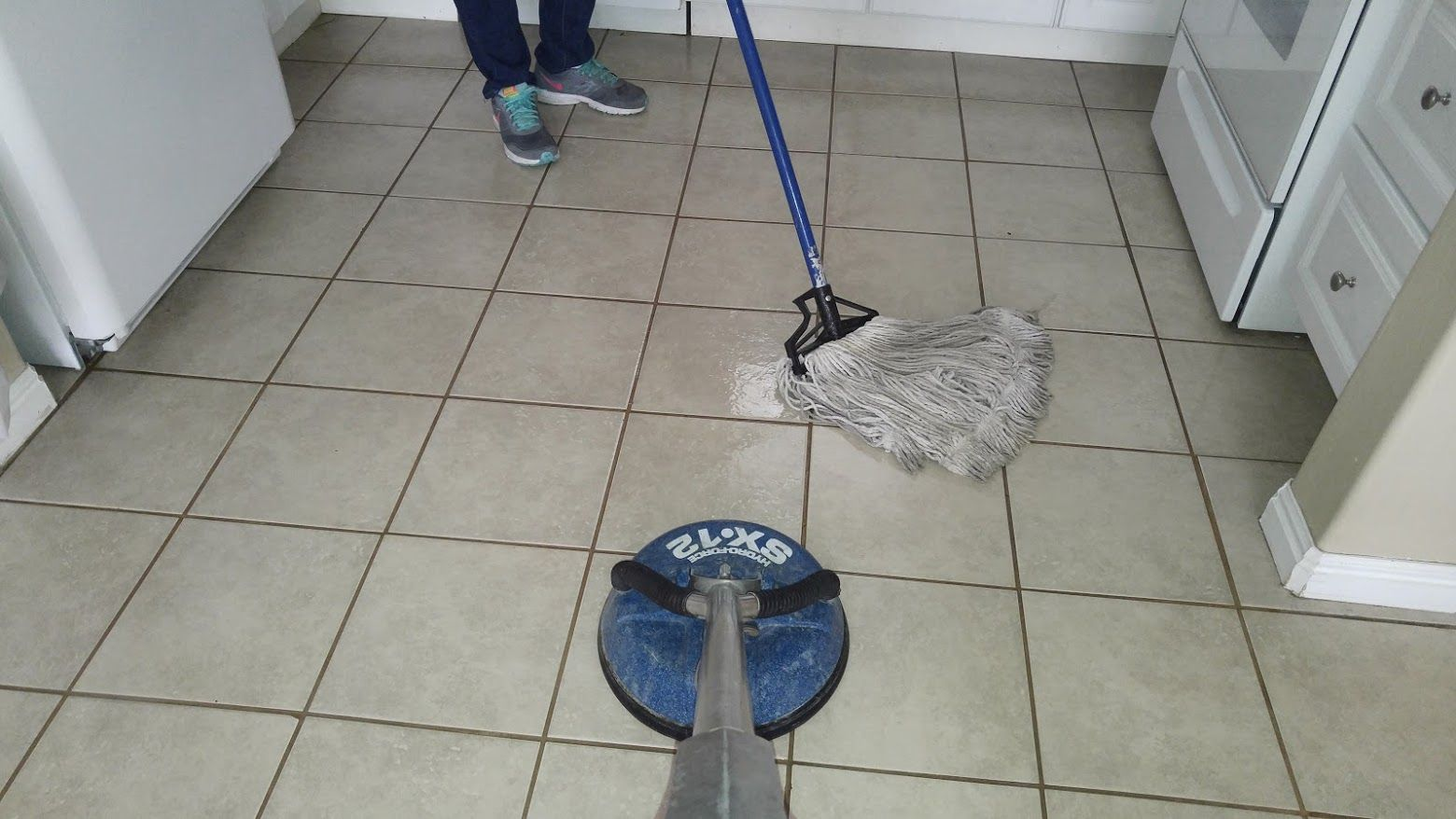 Tile And Grout Cleaning In Utah County We Scrubbed The Tile First