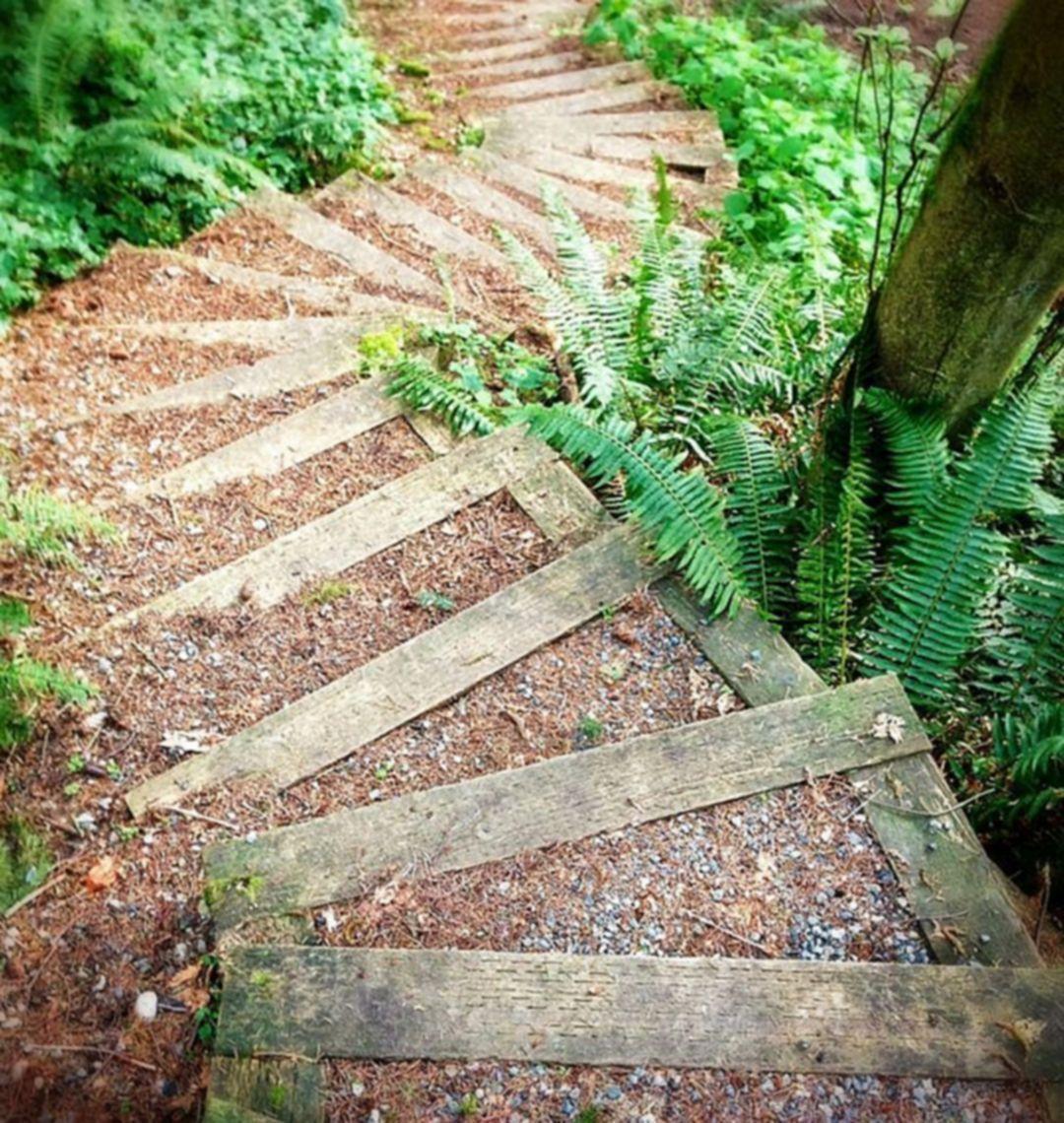 Garden Steps On A Slope 11 In 2020 Garden Stairs Landscape Stairs Steep Gardens