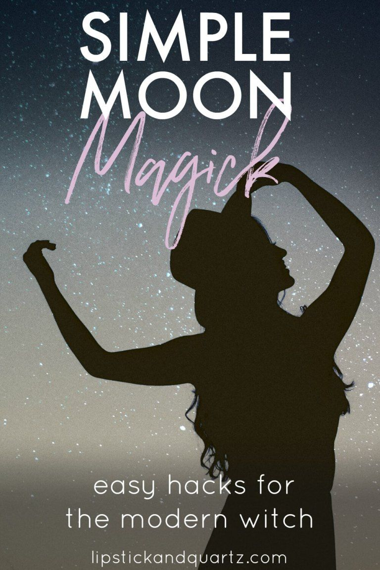 Want to learn more about moon cycles and moon magick but feel overwhelmed? Don't miss this simplified guide takes the guesswork out of lunar magick so you can start manifesting right away! A must for the modern witch! #modernwitch