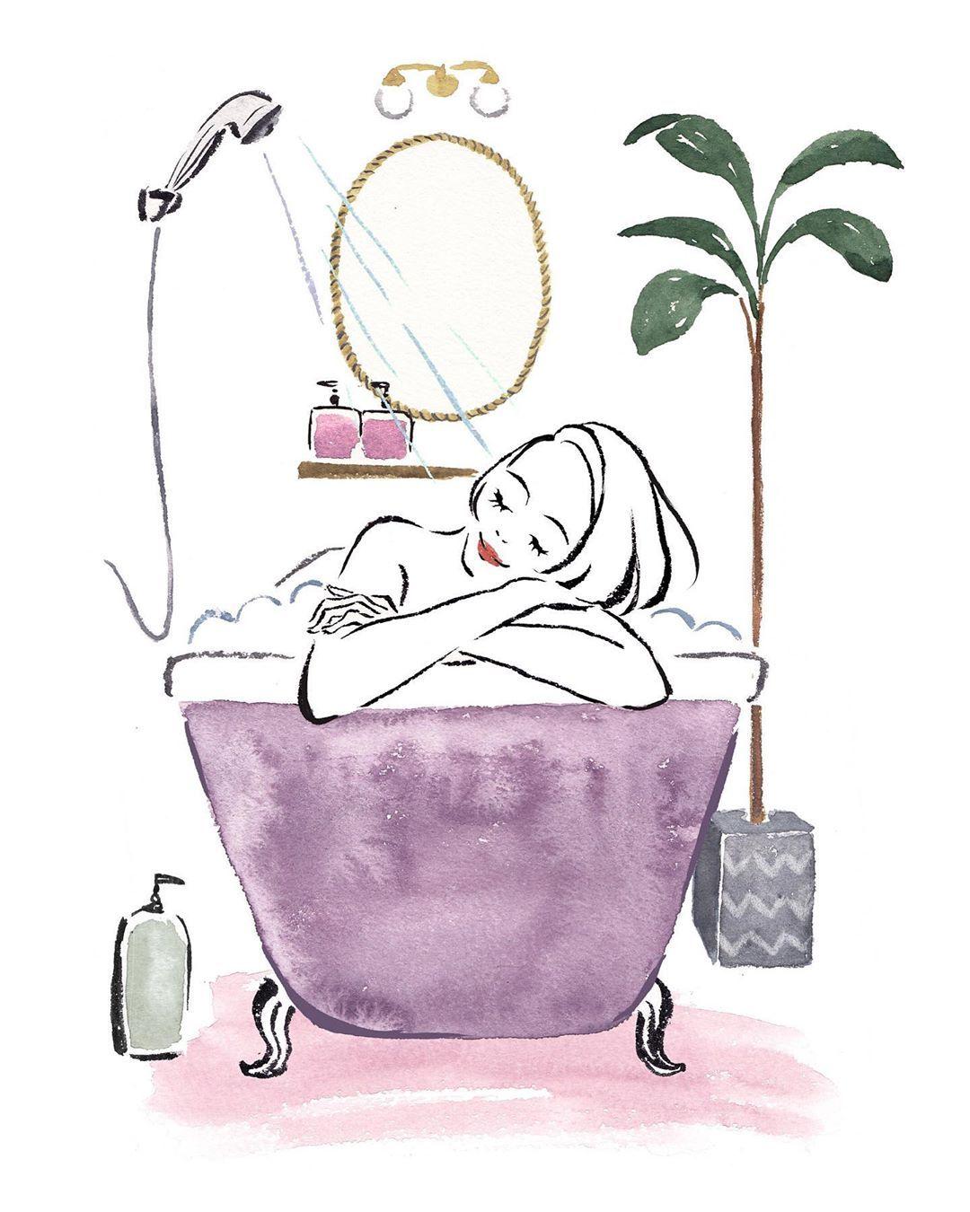 お仕事イラスト Refa Mtg さんの浴びるだけで綺麗になれるシャワーヘッド イラストレーター Illust