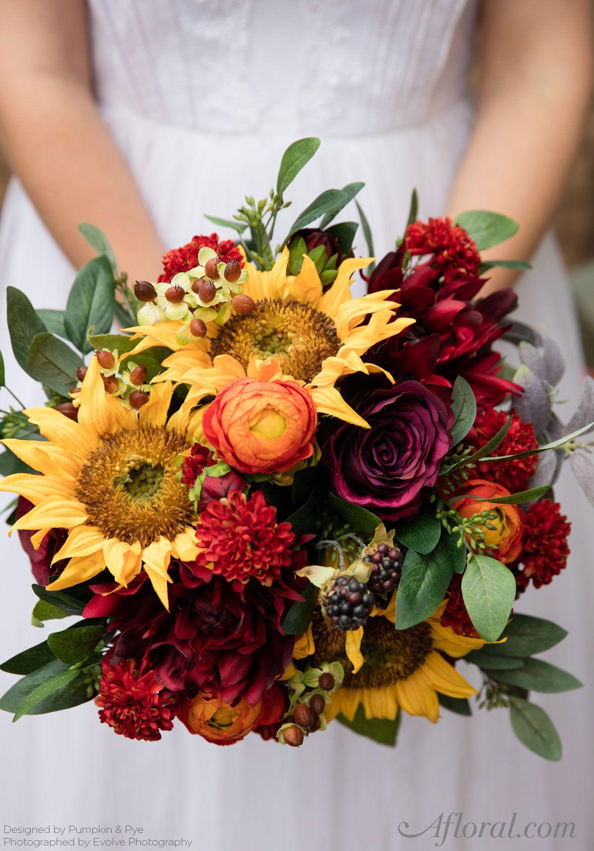 Diy Fall Sunflower Bouquet Fall Wedding Bouquets Sunflower Wedding Bouquet Bride Flowers