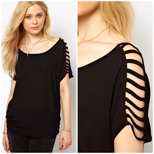 Rocking Cutout Diy Tee, Could Reverse Idea And Add Insets, Also