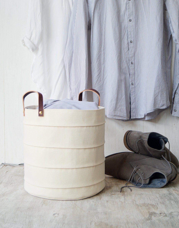 Storage Basket Laundry Hamper Toy Storage Bin Canvas Storage