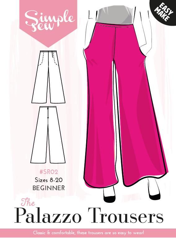 The Simple Sew Palazzo Pants | ropa | Pinterest | Costura ...