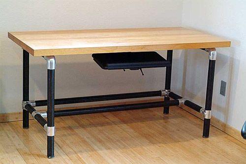 Iron Desk Diy Kee Klamp Blog Projects Ideas Inspiration Ings