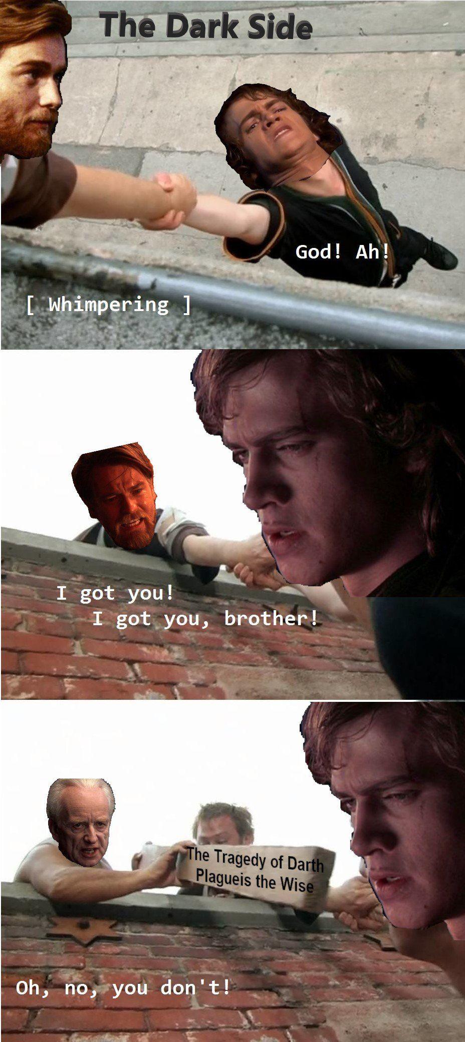 Basically Half Of Revenge Of The Sith Prequelmemes Star Wars Memes Star Wars Humor Star Wars Movie