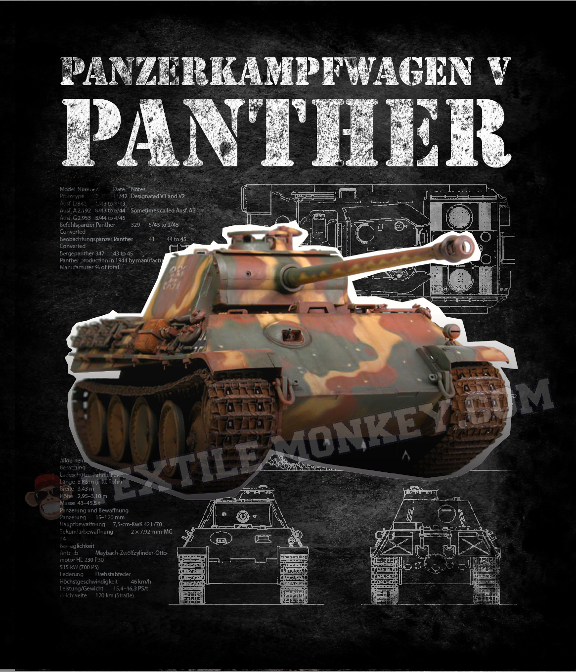 The panther was a german medium tank deployed during world war ii on the eastern and