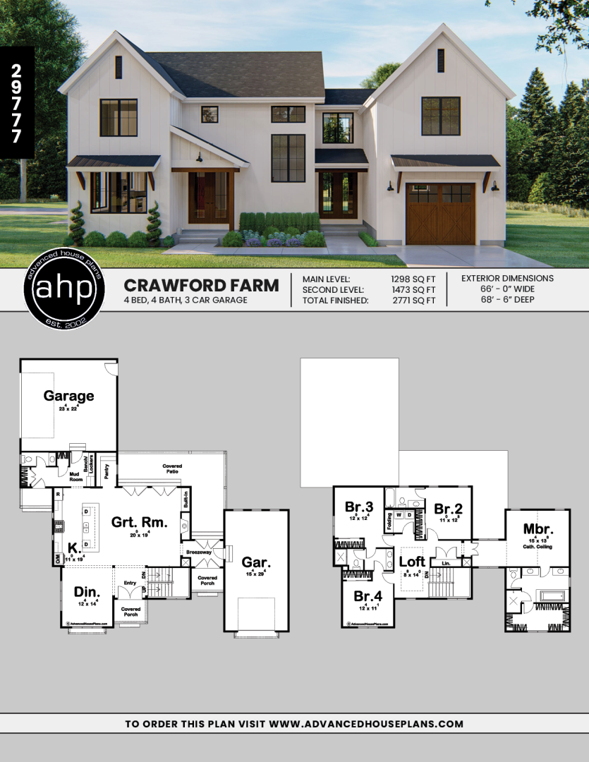 2 Story Modern Farmhouse Plan Crawford Farm Modern Farmhouse Plans Dream House Plans Farmhouse Plans
