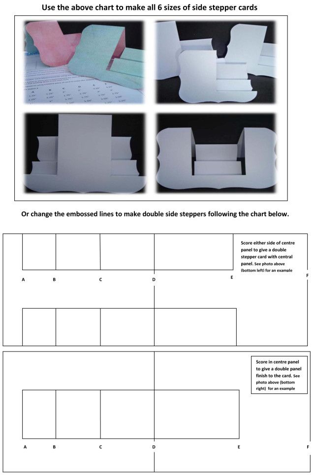Click Below For A Printable A4 Worksheet Nestibility Side Stepper Workshop Please Note The Charts Given In This Worksho Stepper Cards Side Step Card Step Cards