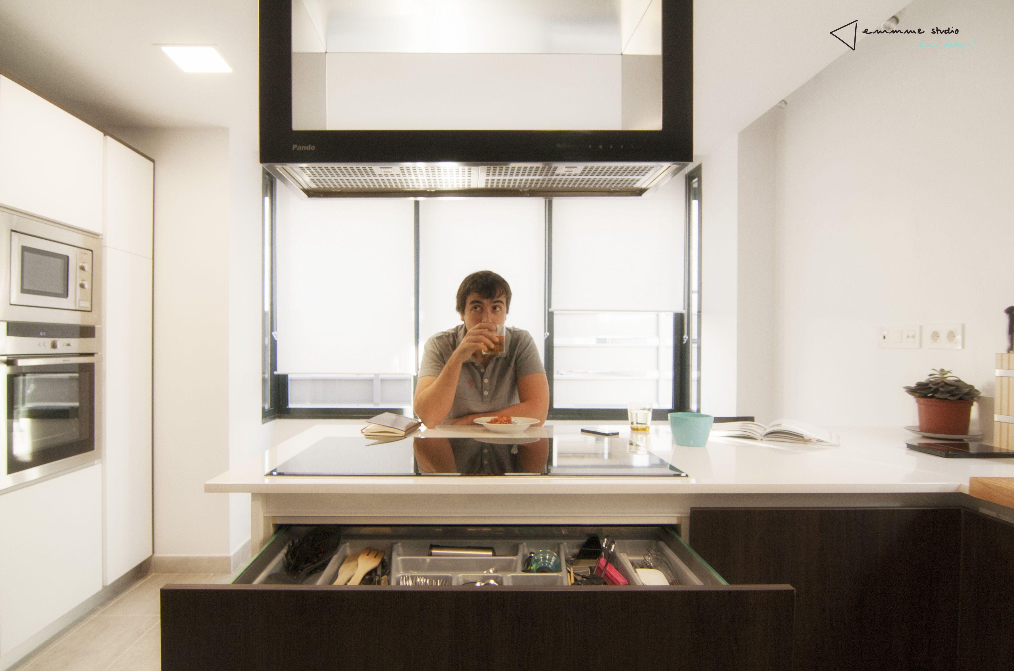 Cocina Moderno Decoracion Via Planreforma Accesorios Antes Y  ~ Accesorios Interior Armarios Cocina