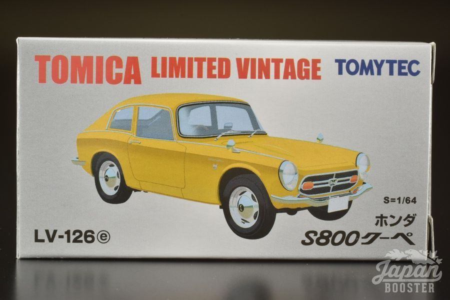 TOMICA LIMITED VINTAGE LV-126e 1//64 Yellow HONDA S800 COUPE