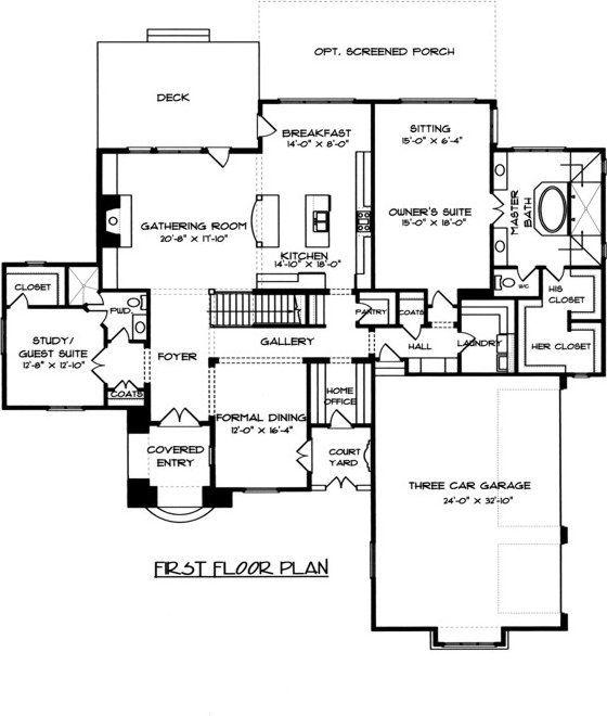 5 Bedroom 4 Bath Castle House Plan ALP 04EZ