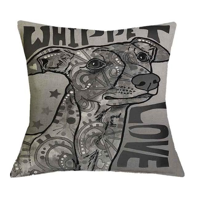 Beautiful Oil Printed Cute Dog Pillow Cases