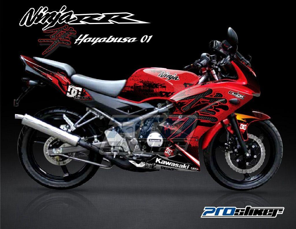 Decal Ninja 150 RR New Warna Merah Modifikasi Motif