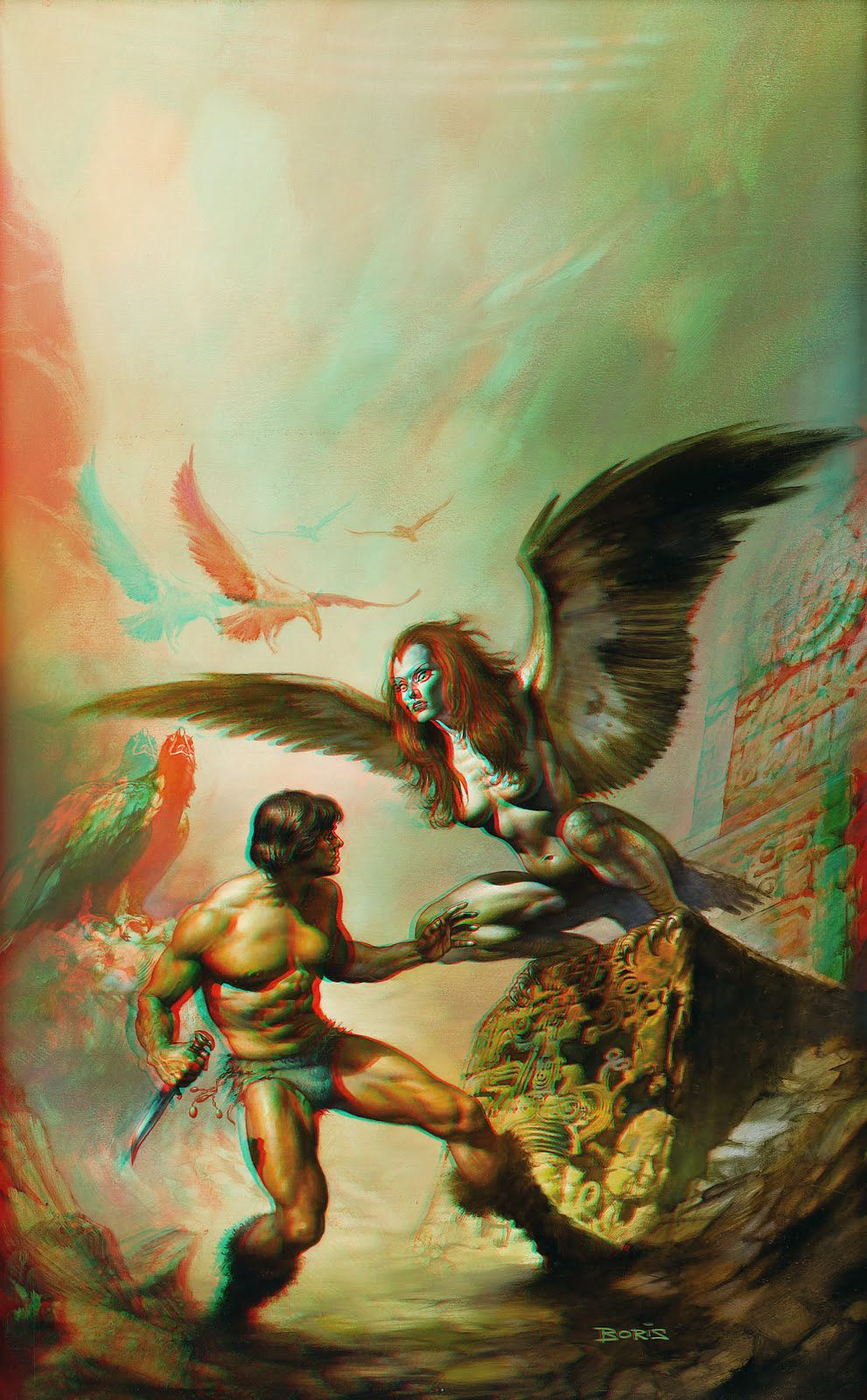 3d Anaglyph Painting Boris Vallejo Boris Vallejo Vallejo Art