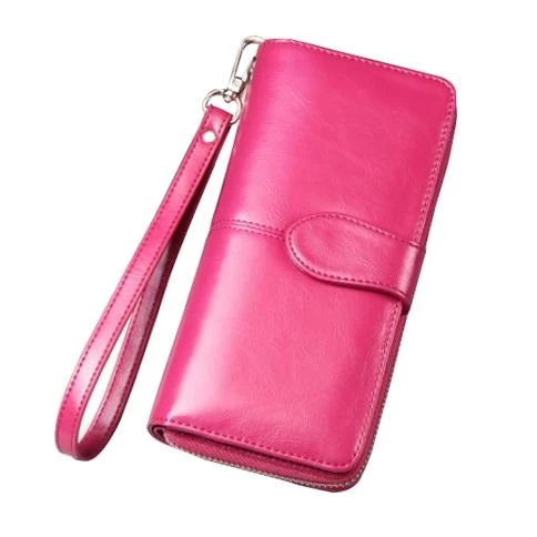 New hot Female Wallet Women Leather Wallet Long Trifold Coin Purse Cardintothea #leatherwallets