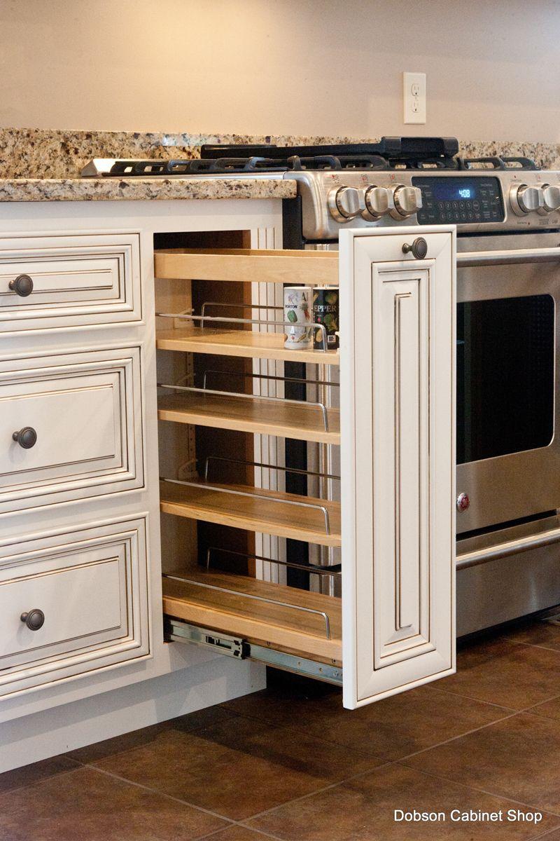 Kitchen Spice Rack Arlington Oatmeal With Caramel Glaze Cabinets