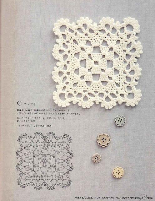 House Craft crochet square | Crochet - diagram pattern | Pinterest ...