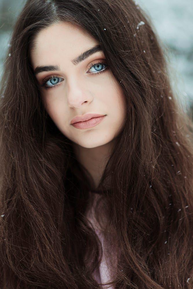 Blue Eyes Beauty By Jovana Rikalo On 500px Dark Hair Blue Eyes