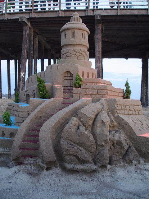 Sand Castle On Pismo Beach California Coast