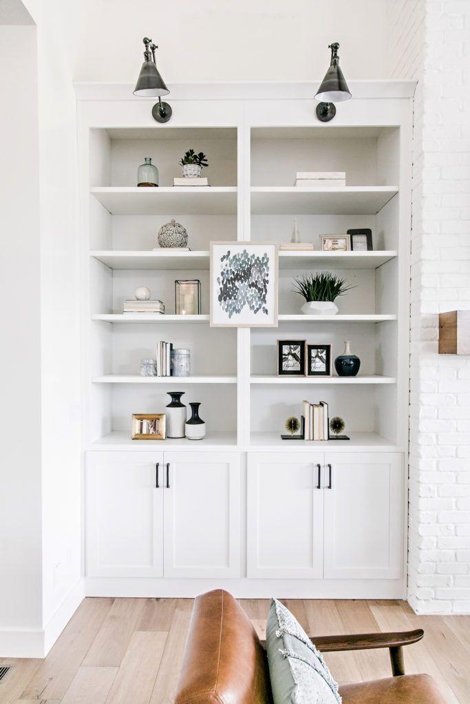 Smi Modern Farmhouse Entry Family Room Living Room Diy Interior Built In Bookcase