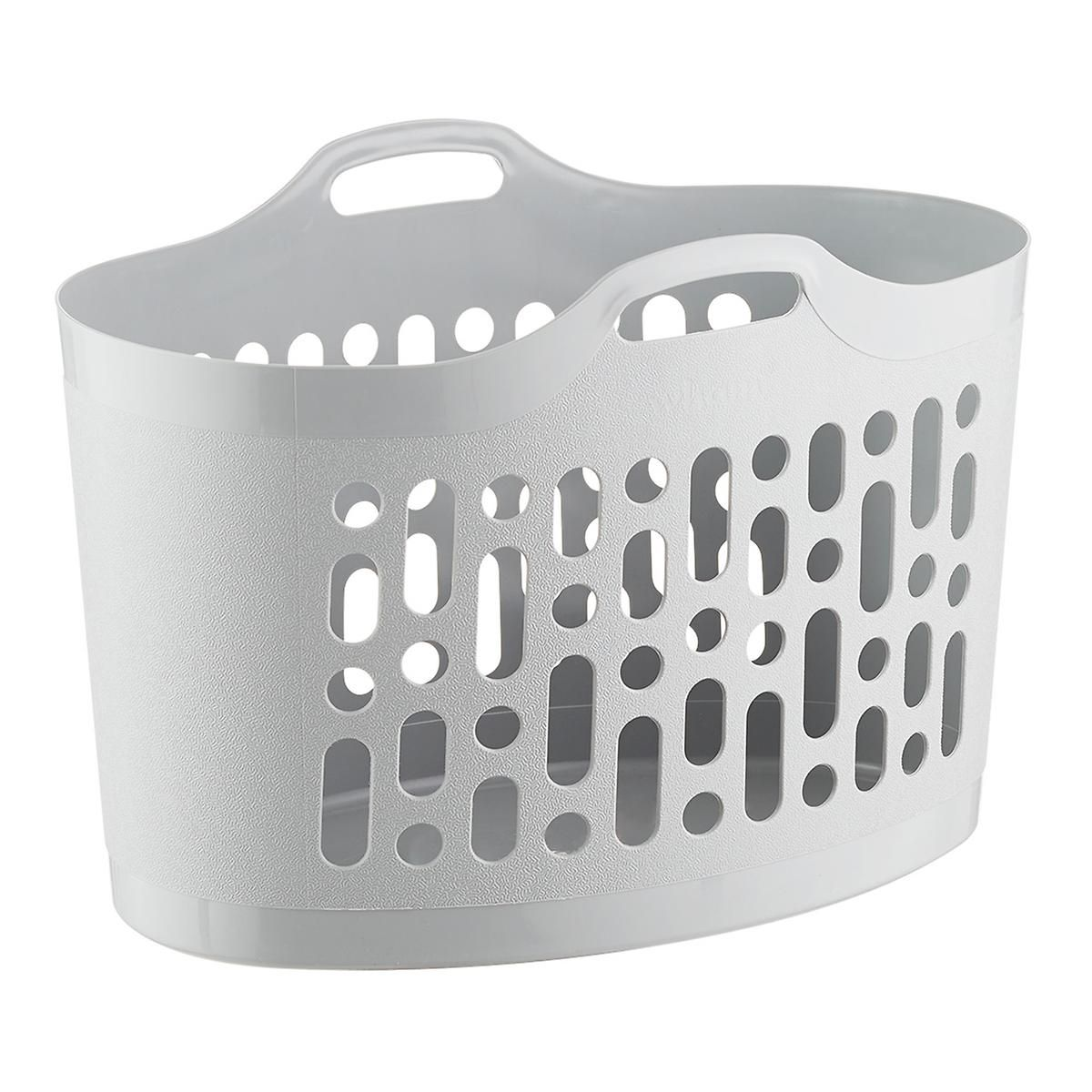 Flex Grey Laundry Basket In 2020 Grey Laundry Basket Laundry