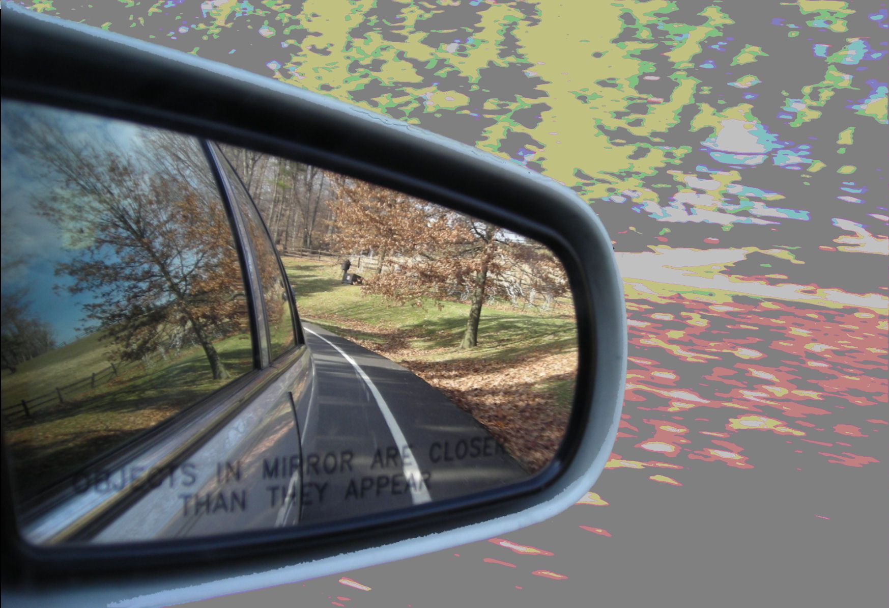 Objects in mirror are closer than they appear. | Mirror, Car mirror, Favorite places