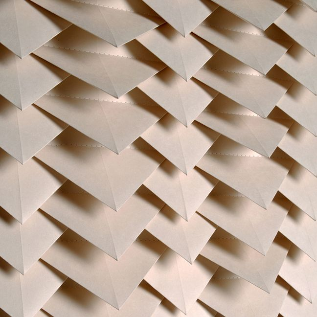 Origami Wallpaper Tracey Tubb Tent London 2014 Materials