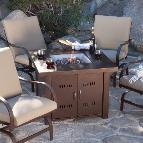 Az Patio Heaters Gs F Pc Propane Fire Pit Antique Bronze Finish