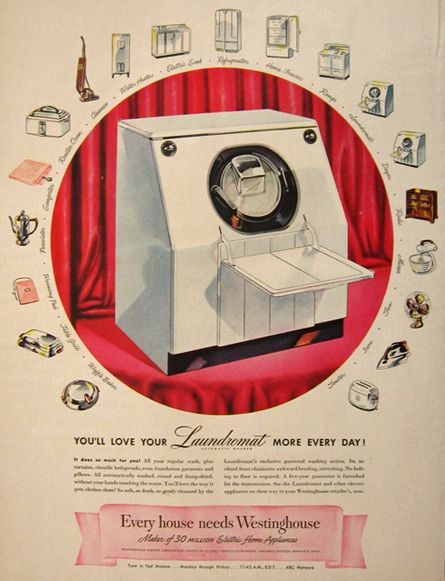 Westinghouse Laundromat Washing Machine Ad