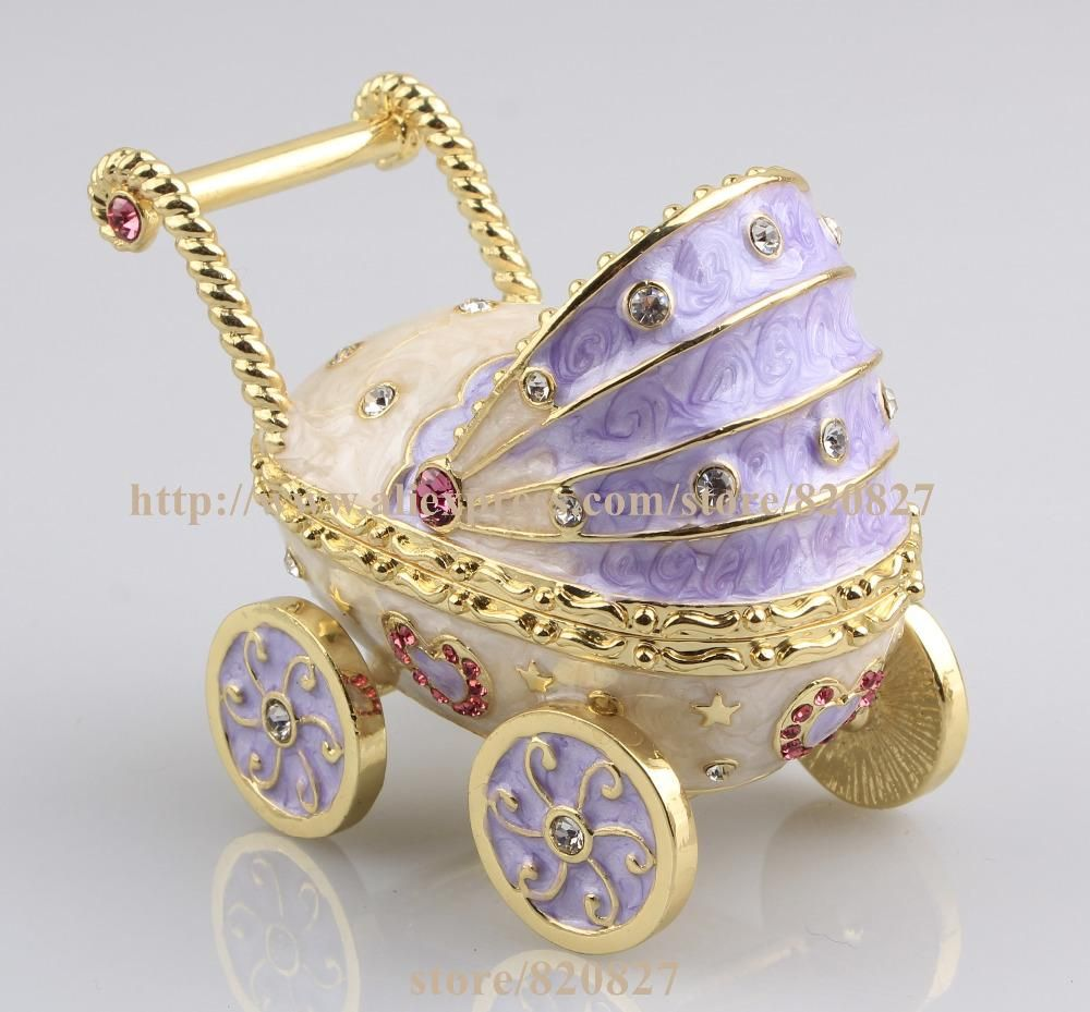 2016 New Baby Carriage Trinket Box Baby Toy Collective Gift Box Baby