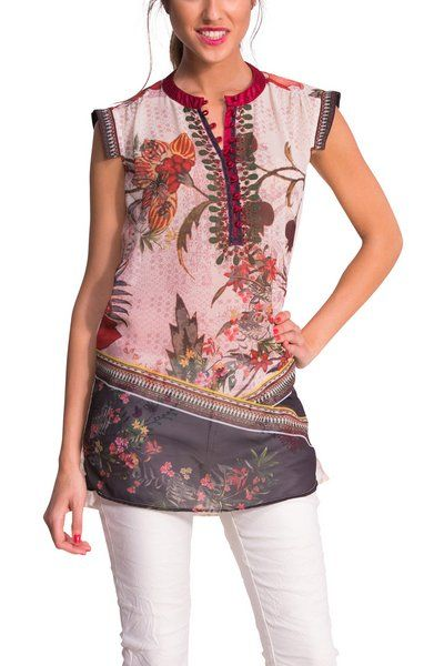 4470b052c73 The Say Something Nice collection comes with lots of new patterns, prints  and fabrics. This short-sleeved tunic is inspired by the Orient and has a  floral ...