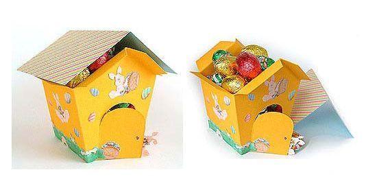 Πανέμορφα χάρτινα σπιτάκια για τα Πασχαλινά αυγά